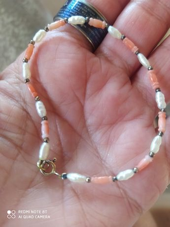 argint 925 cu perle si coral