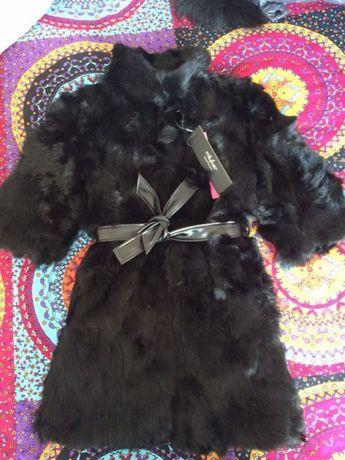 Палто / Елек от заек - естествен косъм
