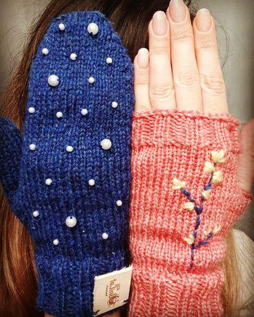 Manusi tricotate manual