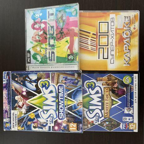 Sims 3, диск караоке, игры на дисках, пустые диски, фотобумага