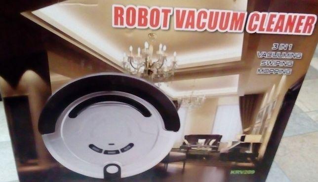 Робот пылесос новый в упаковке,фирменный в комплекте с аксессуарами.