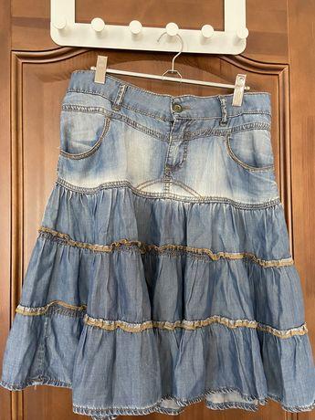 Продам б/у юбку джинсовую
