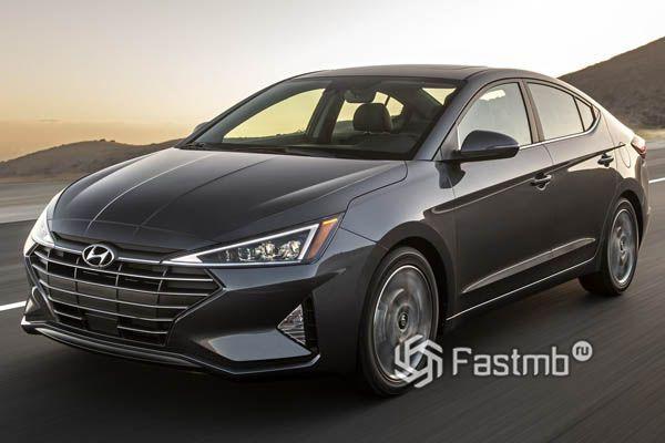 Бампер передний на Хюндай Элантра 2020 - / Hyundai Elantra 2020 -