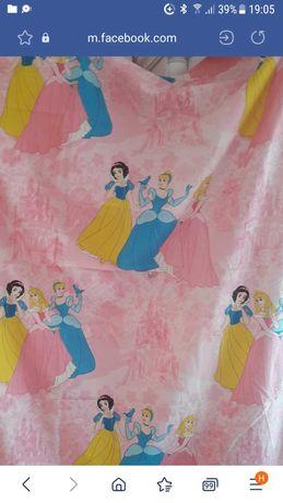 Детски пердета Disney princess с Снежанка,Спящата красавица и Пепеляшк