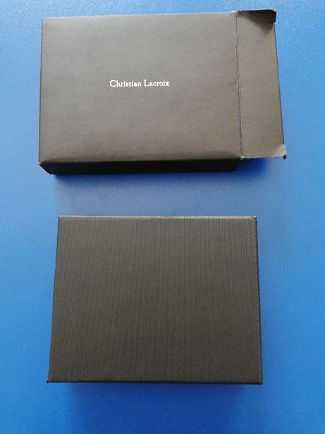 Portofel negru piele Christian Lacroix, original