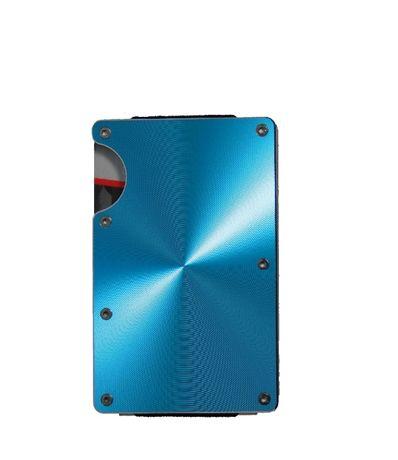 Алуминиев картодържач син - портфейл