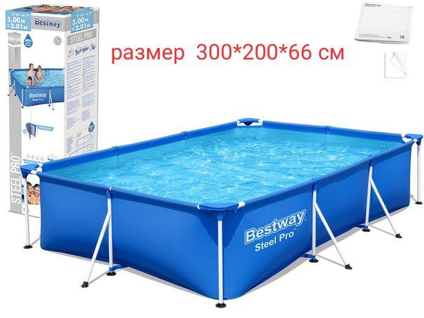 Каркасный бассейн 300x201x66cm Bestwey 56404