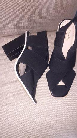 Clarks дамски сандали на ток с ластик 38 номер