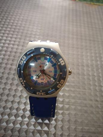 Ceas Swatch aproape nou,curea piele nou handmade
