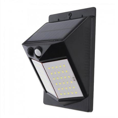 Lampă de perete solara dubla cu senzor de miscare.