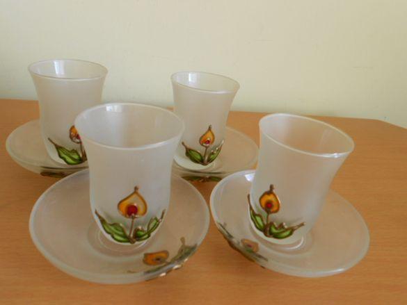 Руски ръчно рисуван сервиз за чай