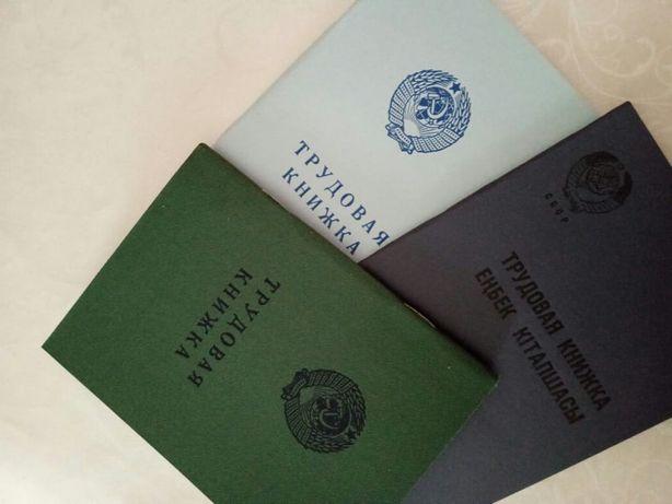 Книжки 1966,73,74годов советские трудовые оригинал