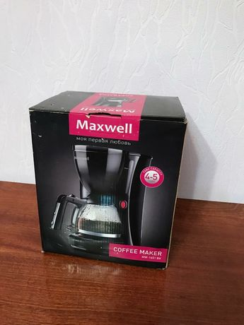 Кофеварка Maxvell MW-1651BK новая