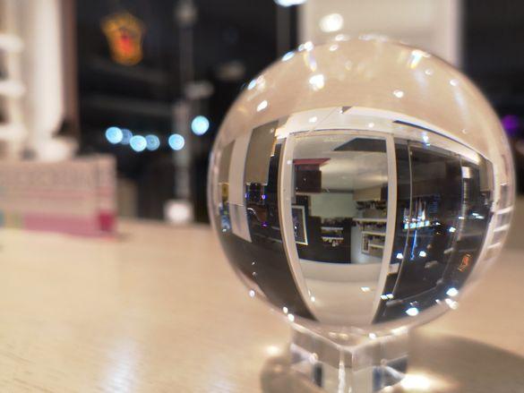 Кристални топка  80мм ,40мм