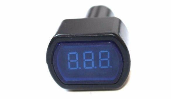 Дигитален волтметър ,тестер 12/24в за акумулатор ново
