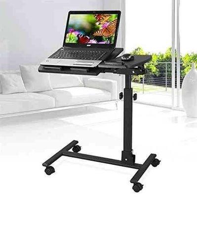 Сгъваема мобилна маса за лаптоп с колелца