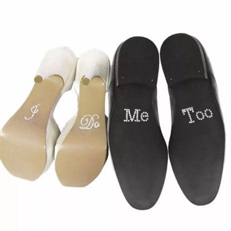Сватбени стикери за обувки I do Me too
