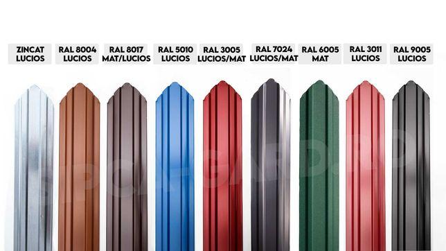 Vindem Sipca metalica Gard din STOC Zincat/Rosie/Maro Bucuresti Sector