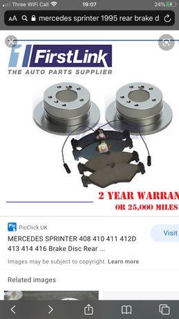Discuri frana spate Mercedes Sprinter