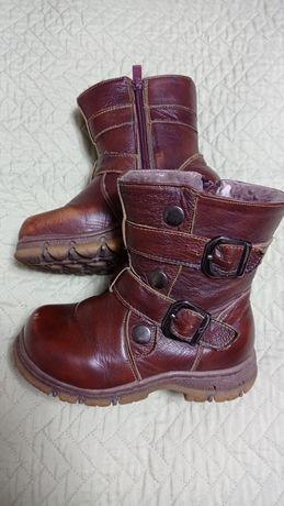 Сапожки (зима)  кожаные на меху.