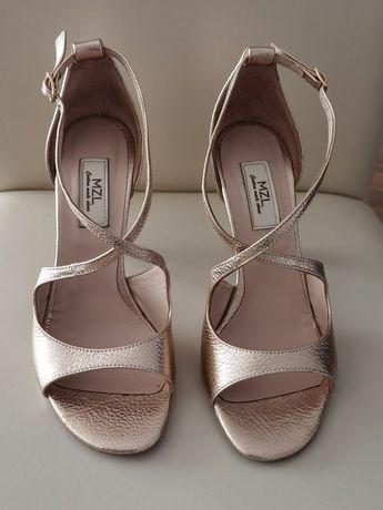 Sandale aurii piele Mamzelle