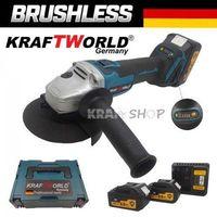 Немски Безчетков акум Ъглошлайф Kraft 24V + 2 Батерии 6A шлайф с Куфар