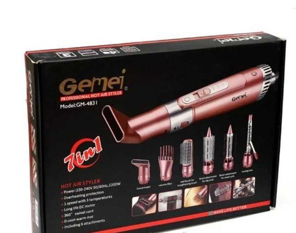Профессиональный стайлер фен 7/1 Gemei GM-4831 по очень низкой цене