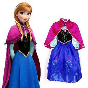 Рокля Костюм с Наметало На Принцеса Ана от Frozen + ПОДАРЪК Коронка