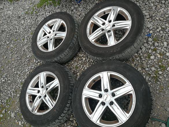 Нисан Кашкай джанти и зимни гуми 16 цола