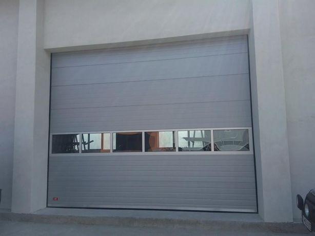 Uși de garaj 3511L/3500H , sectionale, izolate cu reductor pe lant