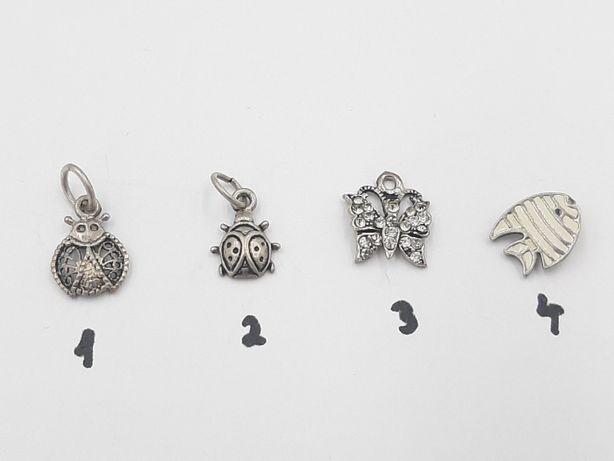 Lot superbe 4 mici pandantive vintage din argint 925-de colectie-