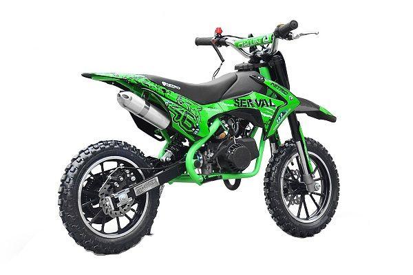 Motocicleta electric pentru copil 3- 9 ani, NITRO Serval 500W #Verde