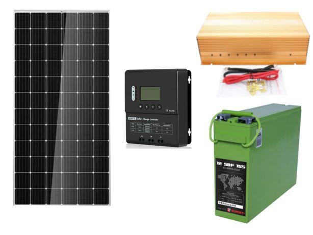 Kit Solar Fotovoltaic 360w 190ah 12v - 220v c.a. Panou solar