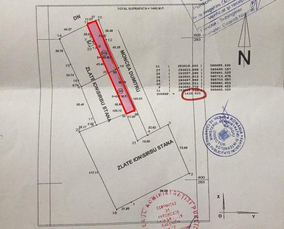 teren com. Baneasa ,Giurgiu 7200 mp negociabil