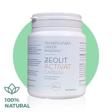 Zeolit Activat 100% pur, 90 capsule