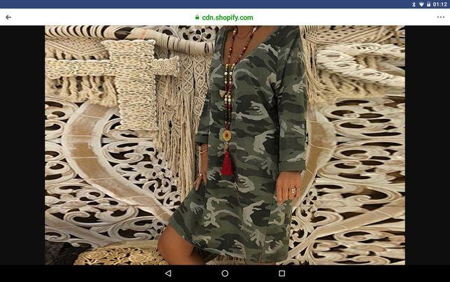 Rochie model army ,noua ,superbă L