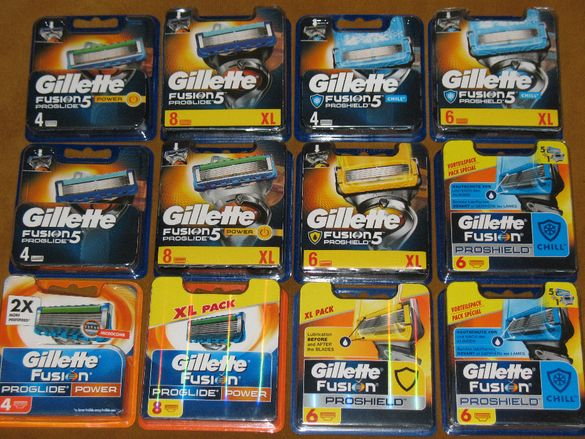 Gillette fusion Рroglide,Power,PROSCHIELD, SkinGuard 4,8,10бр.