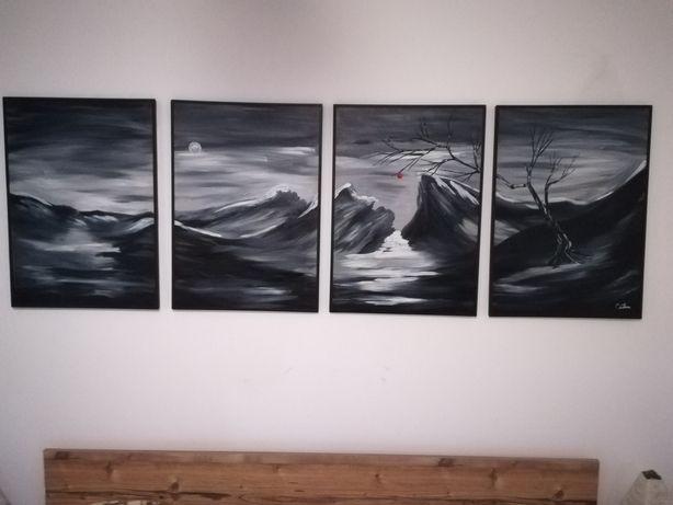 Pictura Ulei pe panza inspiratie Theo Dapore tablou peisaj