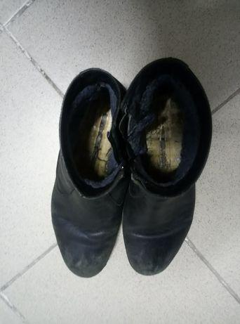 сапоги зимние кожаные 40 р