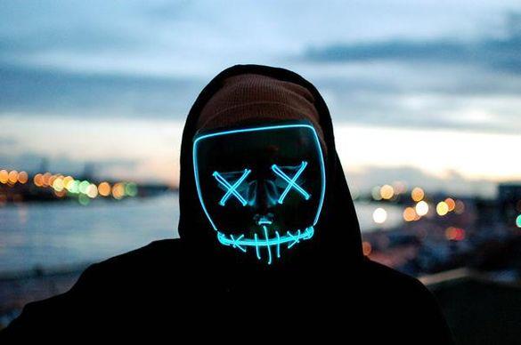 """ПРОМО - Оригинална Светеща LED маска """"Череп"""""""