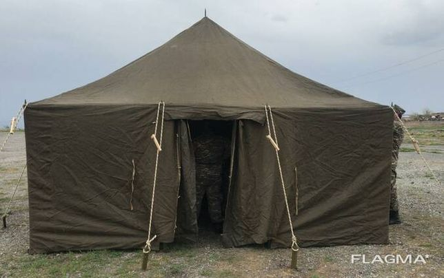 Палатка армейская брезентовая бес каркасная