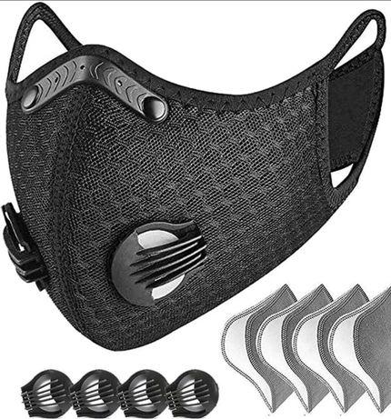 Masca fata / sport / sky cu 5 filtre si 6 valve