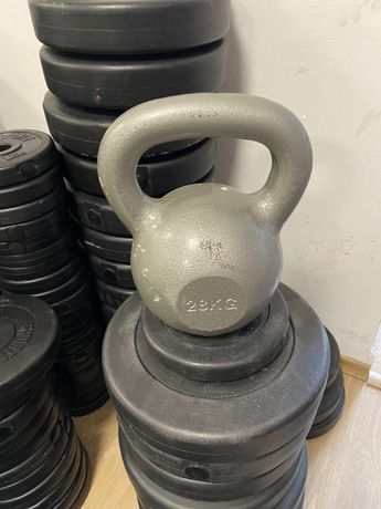 Gantera Kettlebell 28 kg fier metal nou, made in Germany pret 280 ron