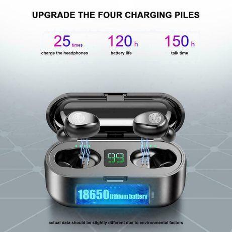 ПРОМОЦИЯ! Безжични Слушалки F9 TWS LED Iphone Samsung