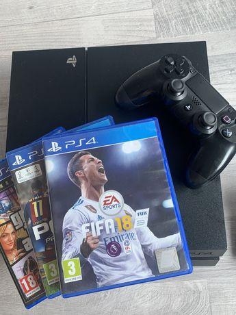 PS 4 slime+3 jocuri