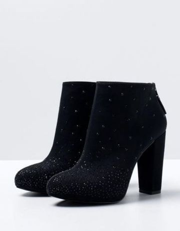 Ghete Botine Bershka pietre Night Collection Zara cristale swarovski