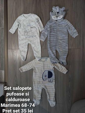 Haine bebelusi diverse firme(detalii pe fiecare poza)Mar.68-74 cm.