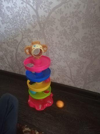 """Развивающая игрушка серпантин """"Обезьяна с шариками"""""""