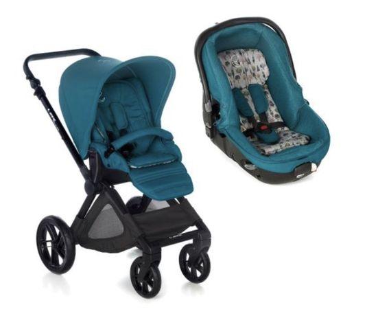 Бебешка количка JANE Muum Matrix Turqoise 2018 2в1 със столче за кола