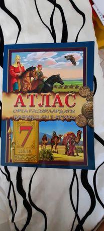 Атлас 7 сынып Орта Ғасырдағы Қазақстан тарихы